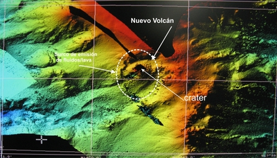 El volcán submarino
