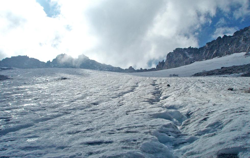 Al pie del glaciar
