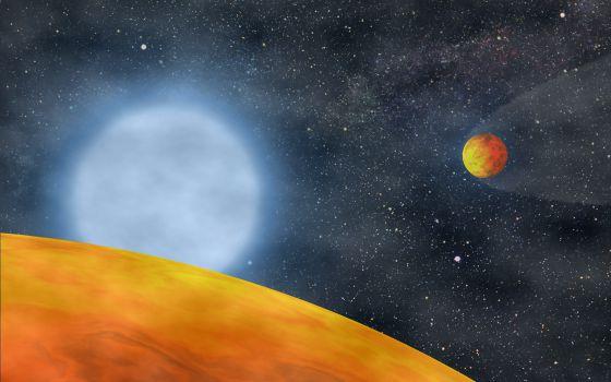 De los dos planetas que han sobrevivido a una estrella en su fase de