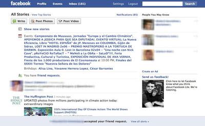 Versión 'Lite' de Facebook