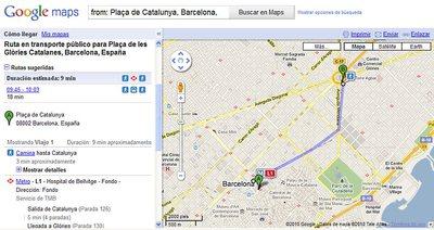 La planificación de recorridos por Barcelona, a un click de distancia