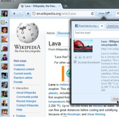RockMelt, nuevo navegador inspirado en la web social