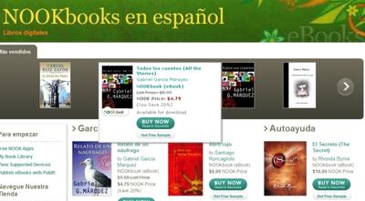 Barnes and Noble abre librería digital en español