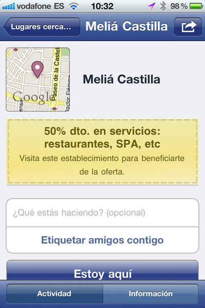 Facebook Ofertas propone descuentos desde el móvil
