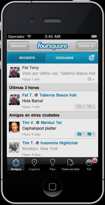 FourSquare habla castellano