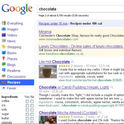 Google abre un buscador de recetas