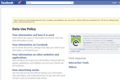 """Facebook suprimirá la """"jerga legal"""" en la explicación para configurar la privacidad"""