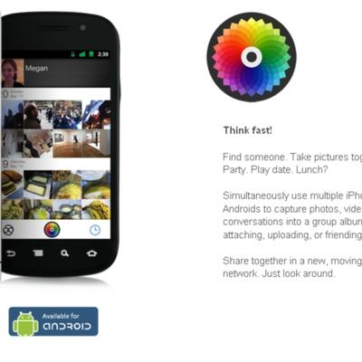 Color distribuye las imágenes que se toman con un teléfono a todos los que están cerca