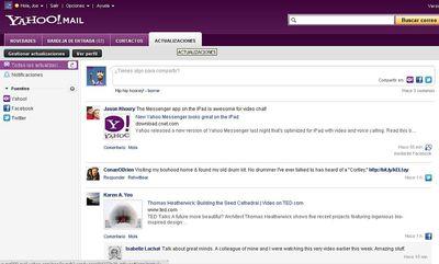 Yahoo! Mail integra Facebook y Twitter