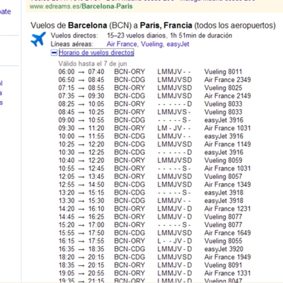 Google busca vuelos