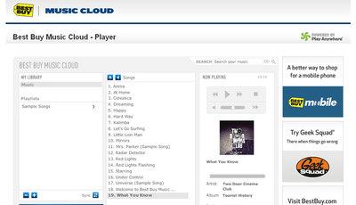 Best buy lanza su servicio musical en la nube