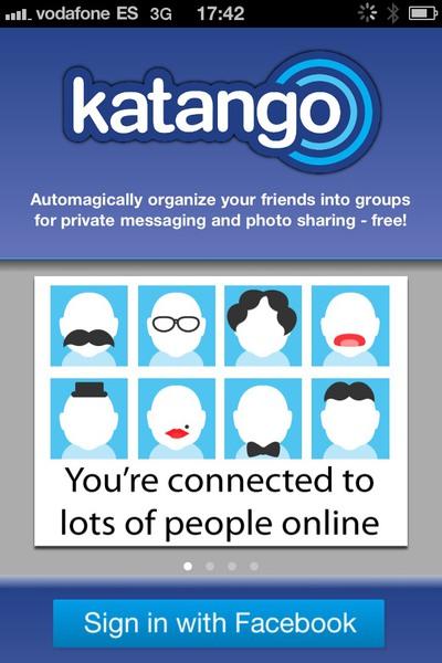 Katango crea grupos de Facebook automáticamente