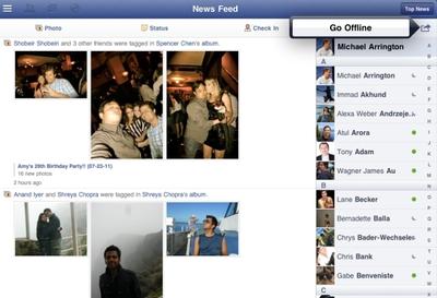 Descubierta la aplicación de Facebook para iPad