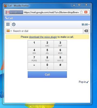 Imagen del servicio de llamadas a teléfonos de Google
