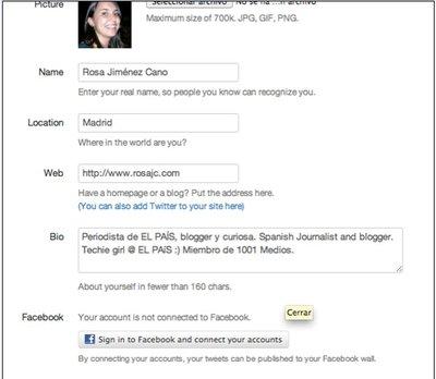 Twitter abre la puerta para publicar mensajes en Facebook