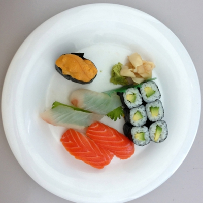 Un plato de sushi, ¿la primera foto tomada con un iPhone 5?