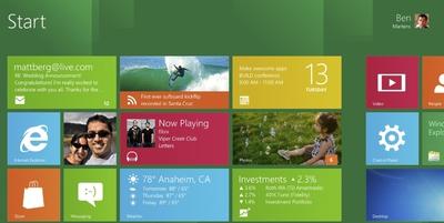 Cambio radical de interfaz en Windows 8