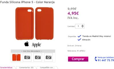 Una tienda española vende fundas para el iPhone 5