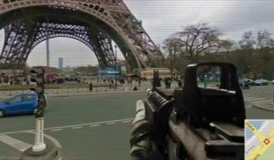 Rifles de asalto en el callejero de Street View