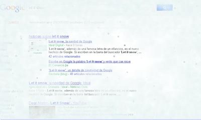 Nieva en Google