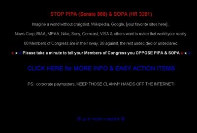 Crece la protesta en Internet contra las leyes antipiratería de EE UU