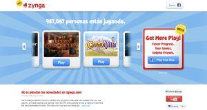 Zynga estrena su sitio de juegos