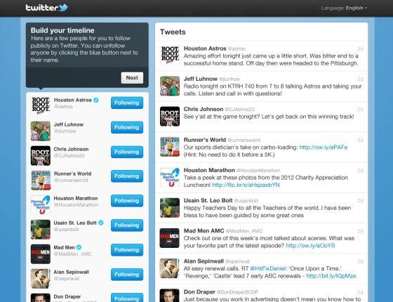 Twitter propone recomendaciones a medida