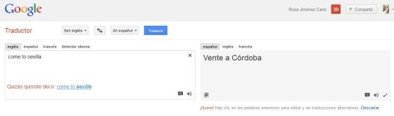 ?Come to sevilla? = ?Vente a Córdoba?
