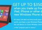 Microsoft sube la oferta: hasta 350 dólares por el viejo iPad