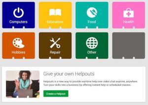 Helpouts, el servicio de ayuda de Google