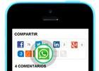 EL PAÍS incorpora la opción de compartir noticias por WhatsApp