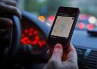 Los taxistas de Barcelona, contra Uber