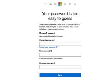 Microsoft prohíbe las contraseñas ?tontas?