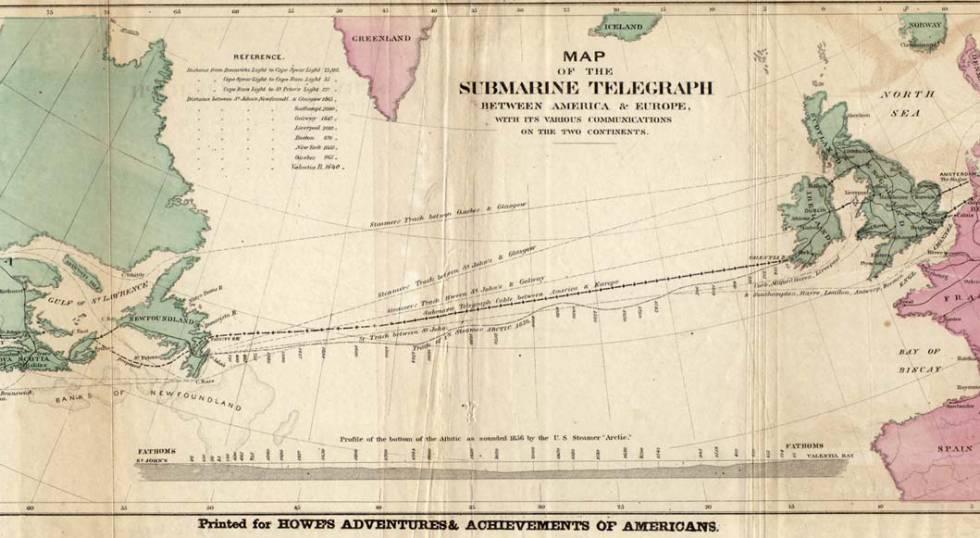 El primer cable submarino de la historia duró solo tres semanas