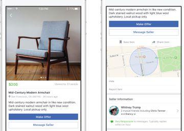 Facebook presenta Marketplace para competir contra eBay y Wallapop