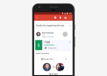 Gmail permite enviar y recibir dinero