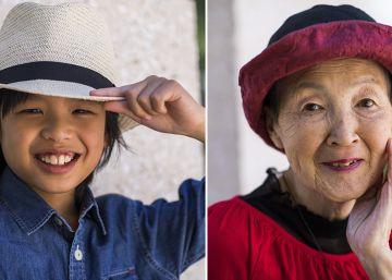La abuela y el nieto de Apple