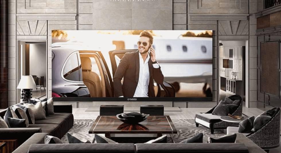 Así es el televisor 4k más grande del mundo