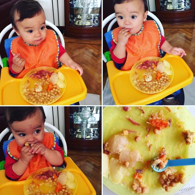 mi beb come cocido a los nueve meses verne el pa s