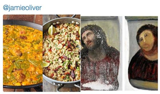 Lecciones de cocina a jamie oliver en twitter tras su for Jamie oliver utensilios de cocina