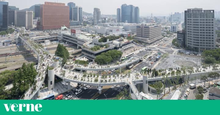Se l convierte una autopista elevada en un original jard n for El jardin urbano