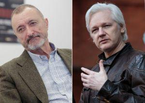 Discusión entre Assange y Pérez-Reverte al hilo de Cataluña