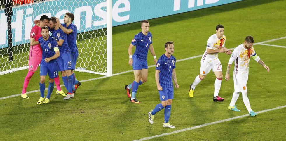 5f3cf65d88 Resiltado Espanha x Croácia Jogo da Eurocopa
