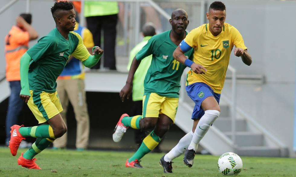 f3680a41b9 resultado Seleção brasileira olímpica em Brasil x Africa do Sul Olimpíadas  Rio 2016