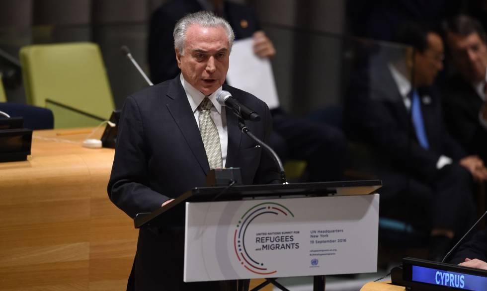 Resultado de imagem para Temer na ONU