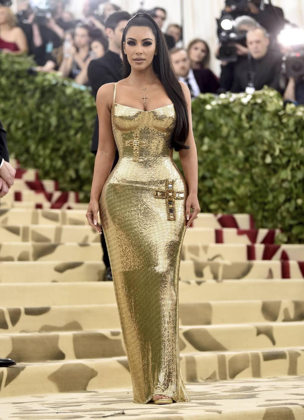 Kim Kardashian no MET Gala 2018.