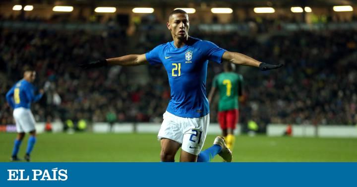 Richarlison substitui Neymar e decide amistoso para o Brasil contra  Camarões  475a1734c9829