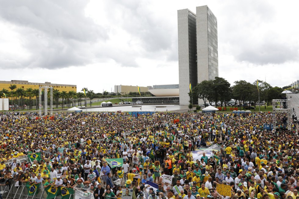 Vista do Congresso Nacional antes da posse.