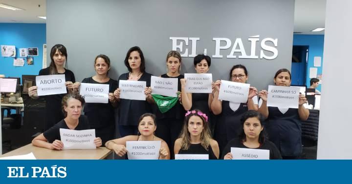 Greve de mulheres na redação do EL PAÍS