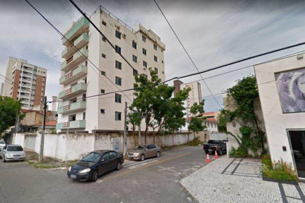 Assim era o prédio do bairro Dionísio Torres, na área nobre de Fortaleza, que desabou nesta terça-feira.